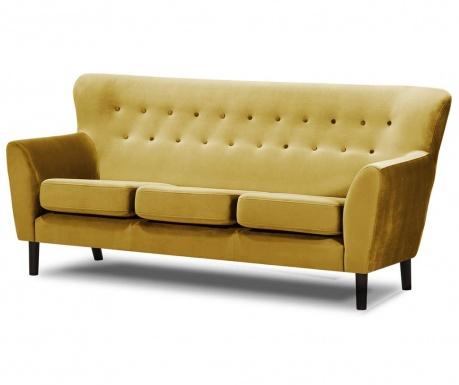 Canapea 3 locuri Leeds Mustard