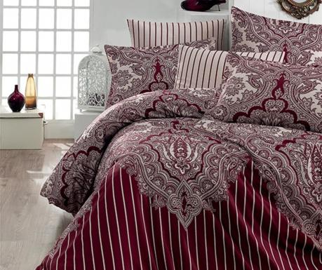 Спално бельо Single Ranforce Lale  Burgundy