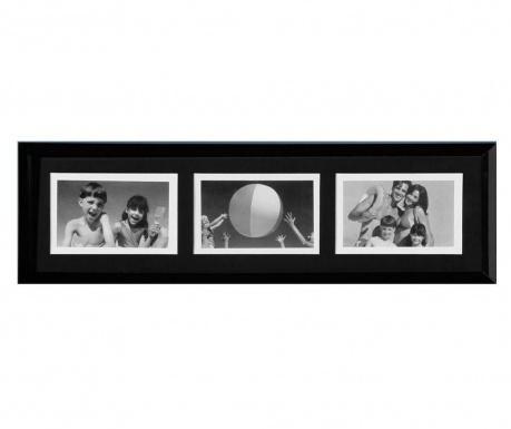 Okvir za 3 fotografije Simple Black