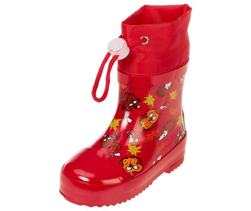 Cizme de ploaie copii Forest Animals Red 26
