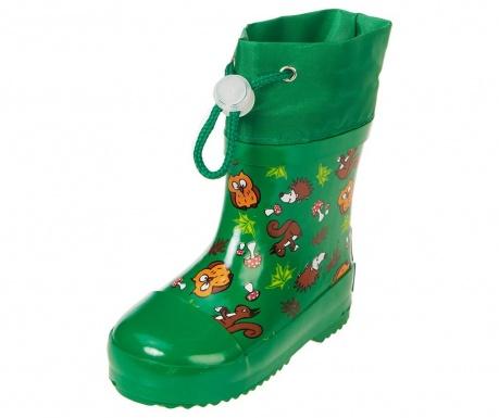 Cizme de ploaie copii Forest Animals Green 27