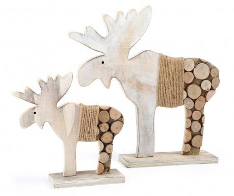 Zestaw 2 dekoracji Elk Tree