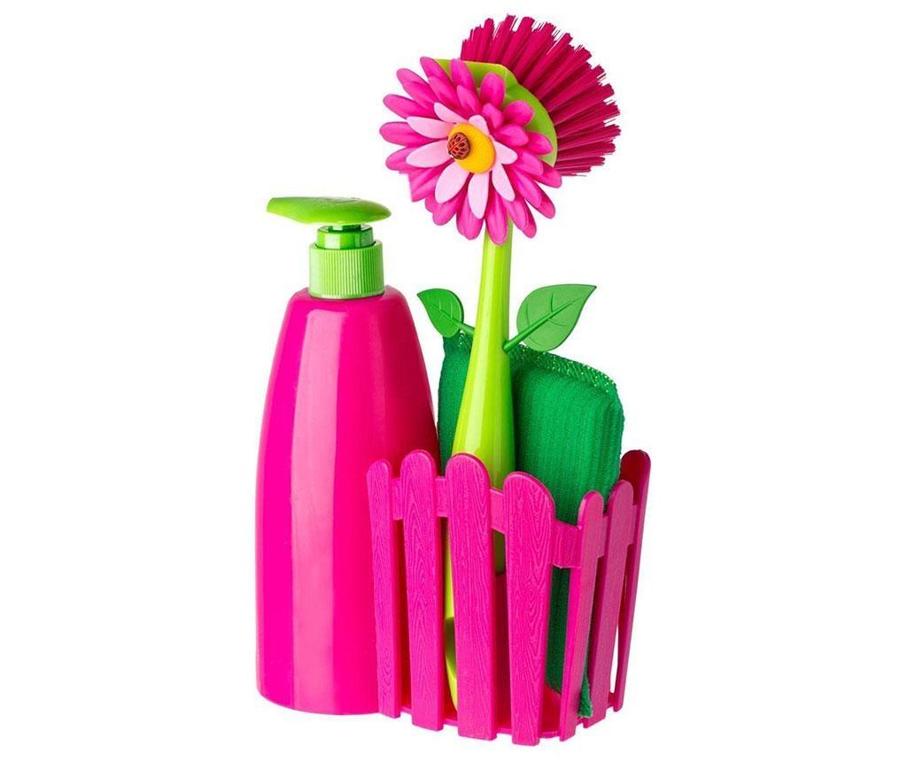 Trzyczęściowy zestaw kuchenny Flower Power Pink