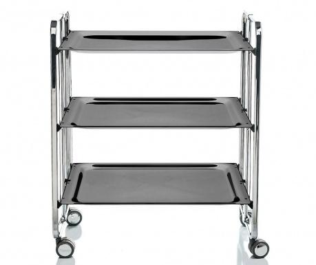 Sklopiva kolica za posluživanje Star Maxi Silver Black