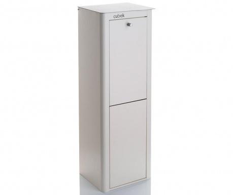 Odpadkový koš na třídění odpadu Cubek White 40 L