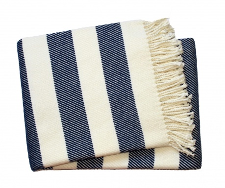 Pled Candy Stripe Navy Blue 140x180 cm