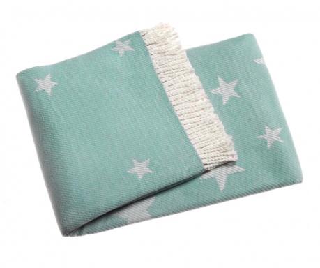 Pled Stars Pastel Blue 140x180 cm