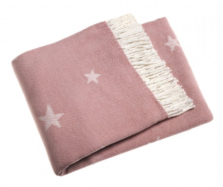 Pled Stars Antique Pink 140x180 cm