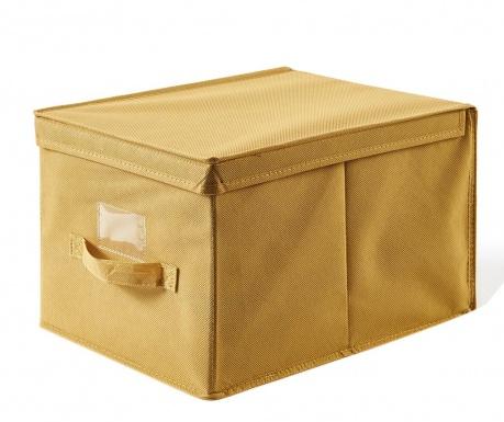 Shranjevalna škatla s pokrovom Misha Yellow