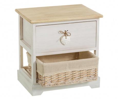 Шкафче с 1 кош и 1 чекмедже Heart Dove