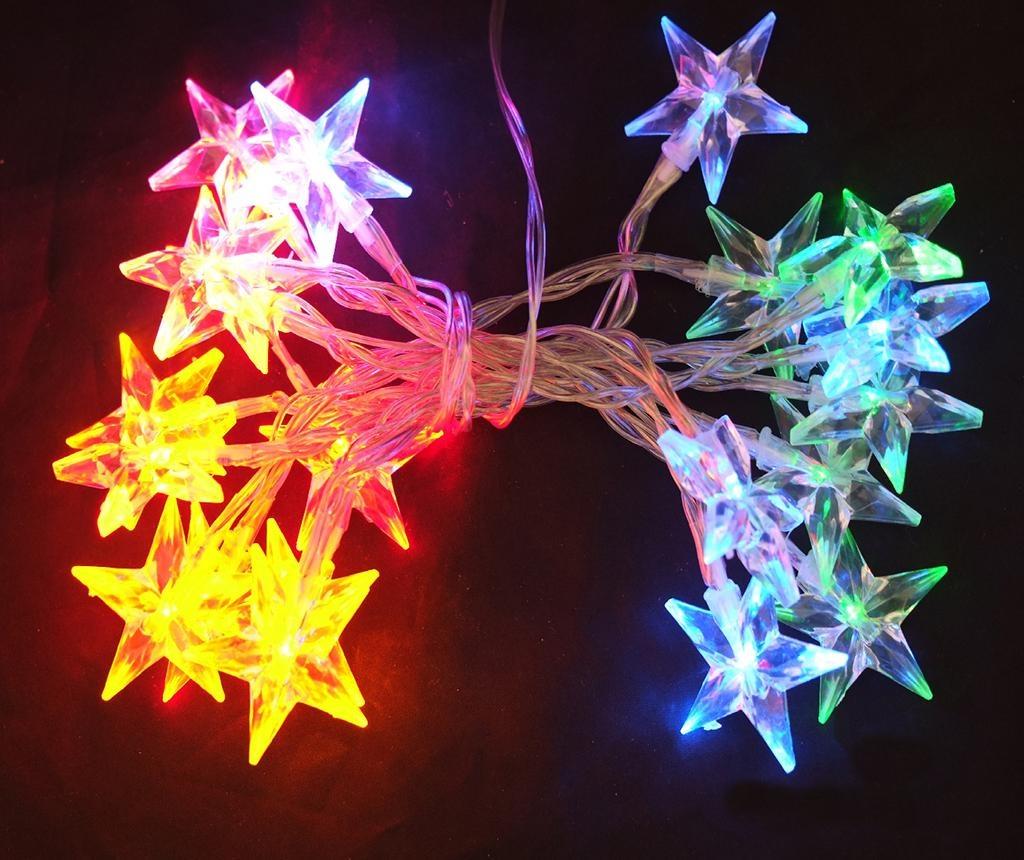 Ghirlanda luminoasa Snow Star Colors