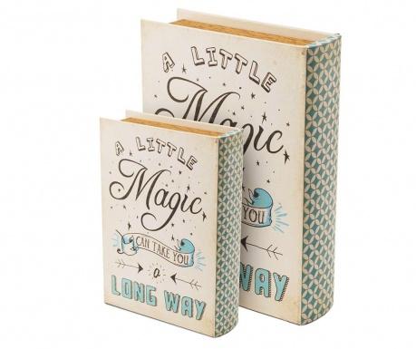 Sada 2 krabic ve tvaru knihy A Little Magic