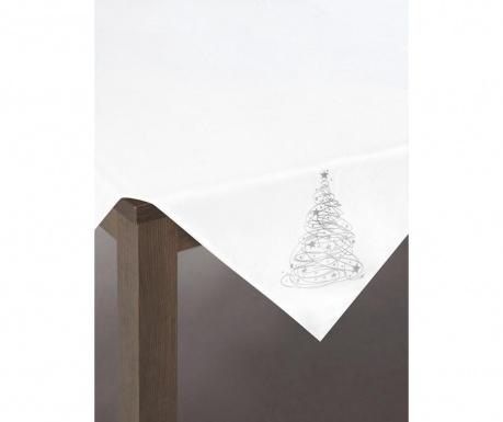 Centralna podkładka stołowa Carol White Silver 85x85 cm