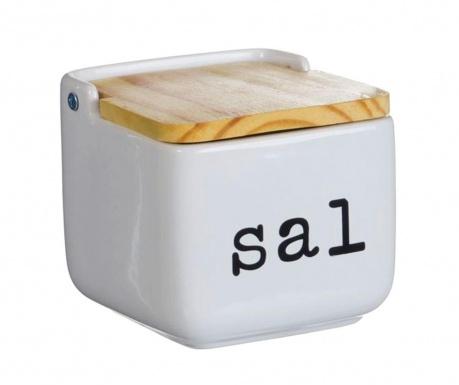 Recipient cu capac pentru sare Sal White