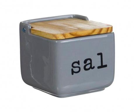 Recipient cu capac pentru sare Sal Grey