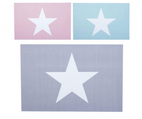 Set 3 individualuri Pastel Stars 30x45 cm
