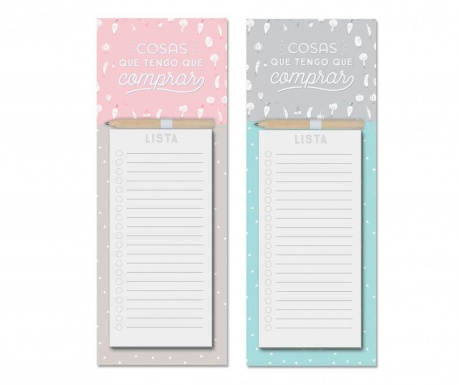 Set 2 carnetele pentru notite Shopping List