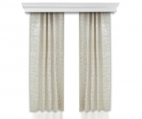 Set of 2 drapes Nora 140x260 cm