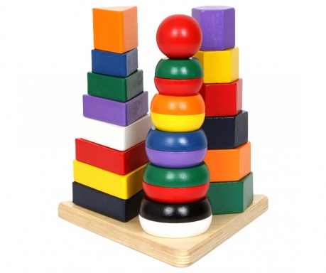 Joc de construit 27 piese Pyramid