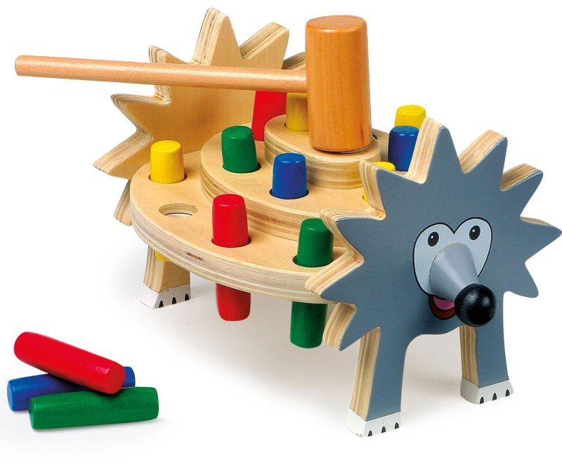 Joc cu forme si ciocan Hedgehog