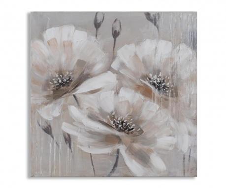 Картина Beige Flowers 80x80 см