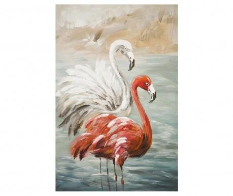 Obraz Flamingos 60x90 cm