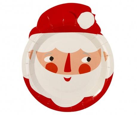 Σετ 8 πιάτα μιας χρήσης Waiting for Santa