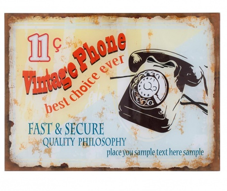 Dekoracja ścienna Vintage Phone