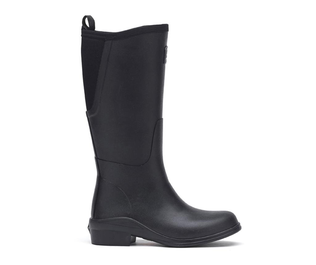 Cizme de ploaie dama Heel Black 37