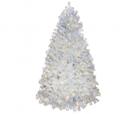 Изкуствена елха с LED-лампички Ontario Tree White