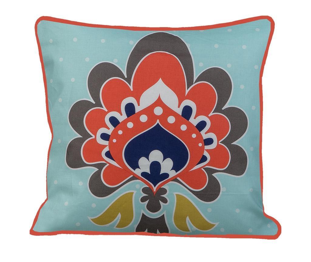 Perna decorativa Mehndi Blue 45x45 cm