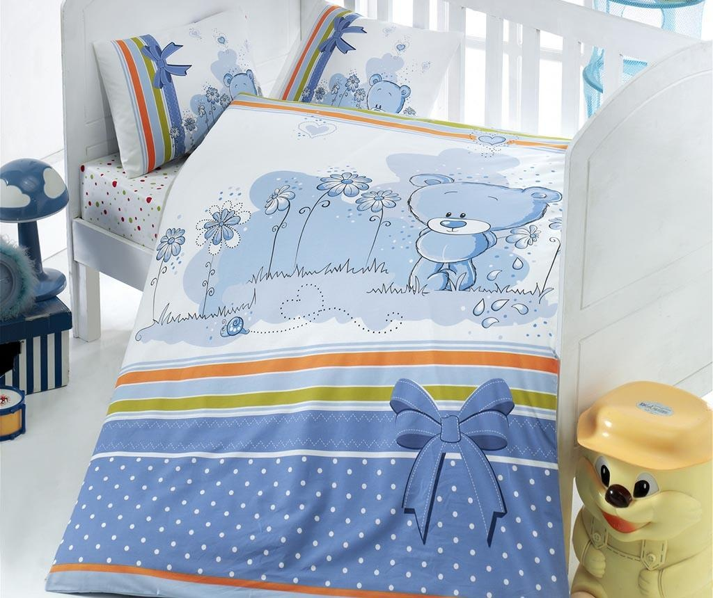 Posteljina za krevetić Ranforce Bear Blue 100x150