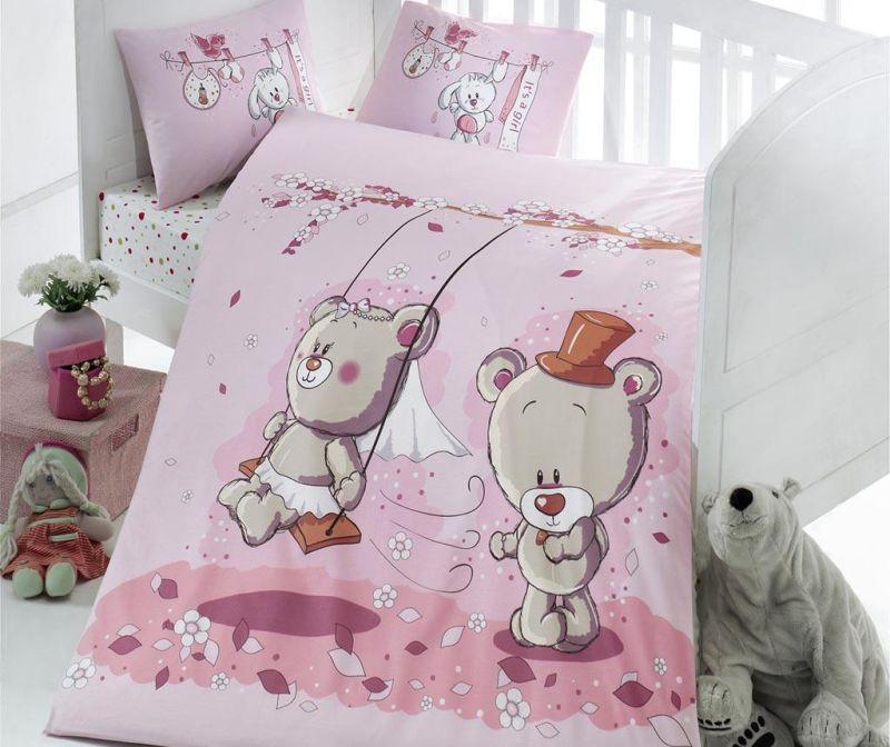 Lenjerie de patut Ranforce Bears Lovers 100x150