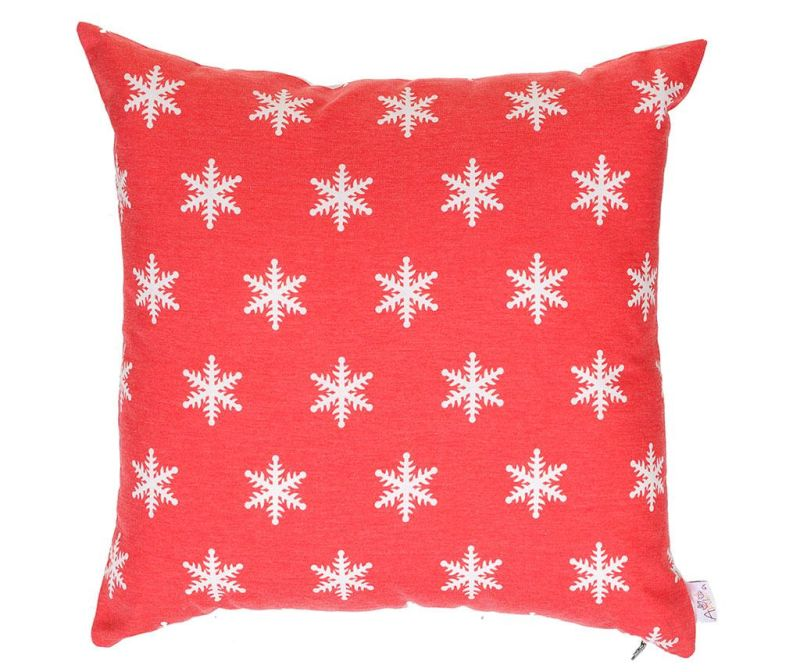 Jastučnica Snowflake Red 43x43 cm