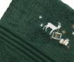 Zestaw 2 ręczników kąpielowych Christmas Reindeer Green 50x90 cm