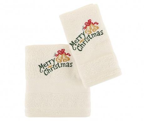 Christmas Bells White 2 db Fürdőszobai törölköző