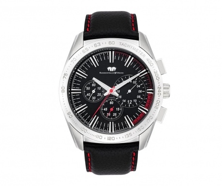 Мъжки ръчен часовник Rhodenwald Sohne Kitano Black Silver Red