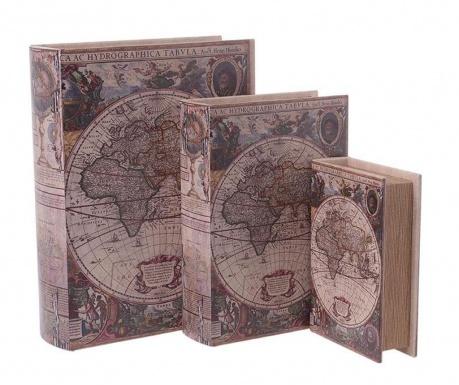 Комплект 3 кутии тип книга Hydrographic
