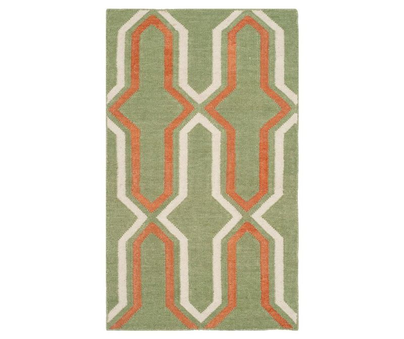 Covor Aklim Green Rust 90x150  cm