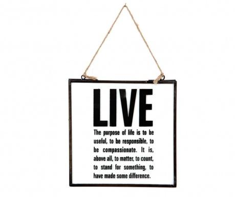 Decoratiune de perete Live & Love