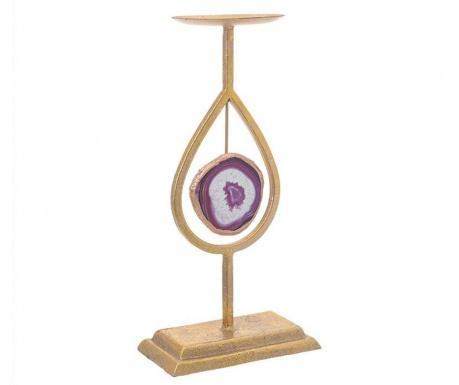 Suport pentru lumanare Travis Purple Tall