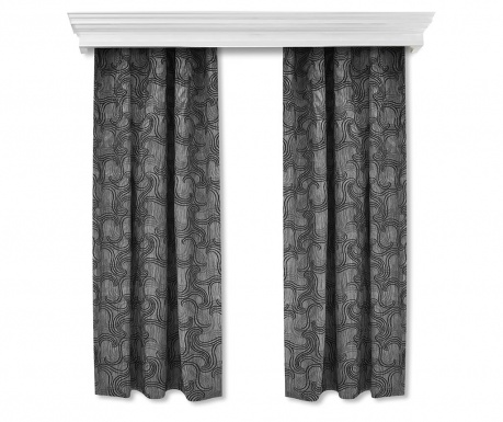 Set of 2 drapes Swirls 140x260 cm