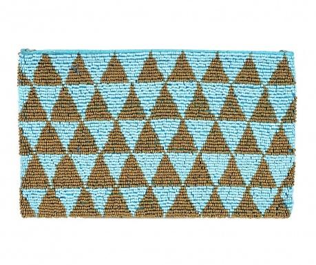 Obálková kabelka Glamour Turquoise & Gold
