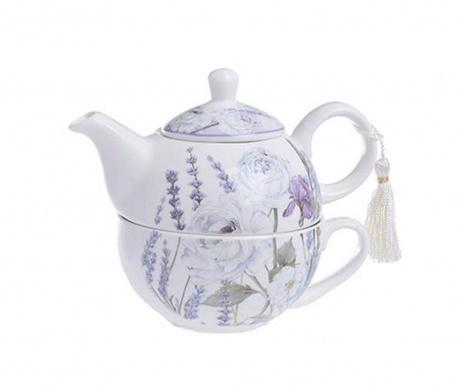 Lavender Teáskanna csészével
