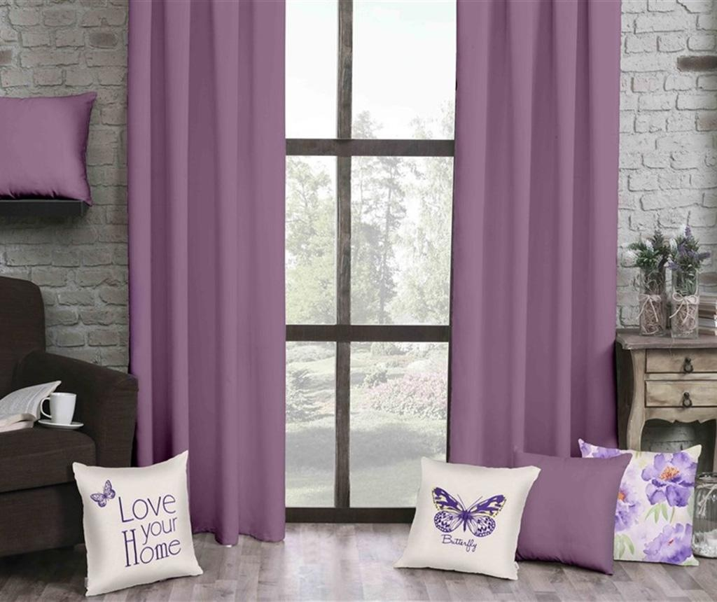 Draperie Plain Purple 140x270 cm