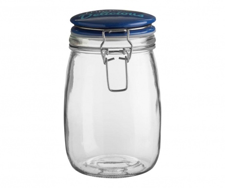 Jar with lid Pretty Delicious 1 L