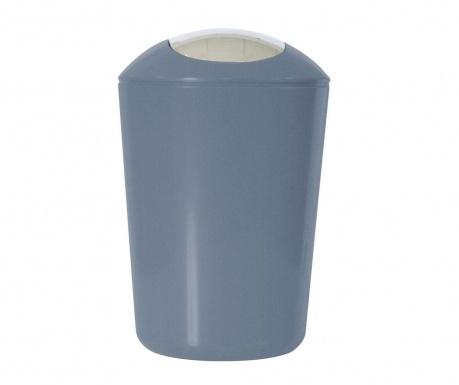 Koš za smeti s pokrovom Swing Grey 5 L