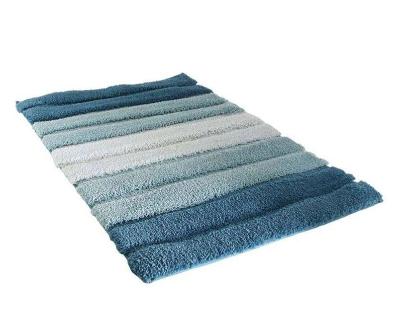 Stripes Blue Fürdőszobai szőnyeg 50x70 cm