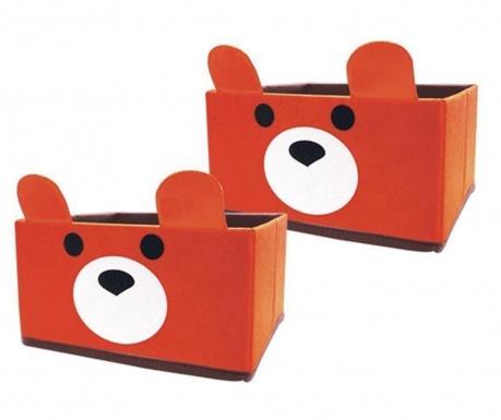 Set 2 cutii pentru depozitare Bear