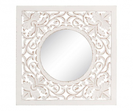 Zrcadlo Roscoe Worn White